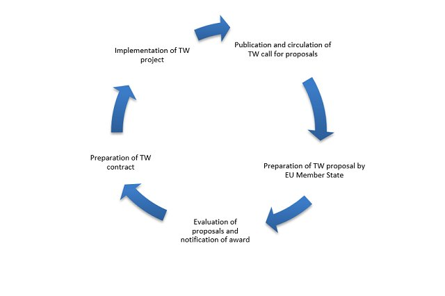 The picture shows Twinning project cycle